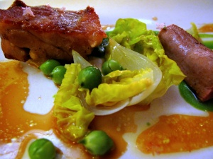 Coi - Bellwether Farm Baby Lamb; English peas, spring onion, little gems, flowering thyme 2