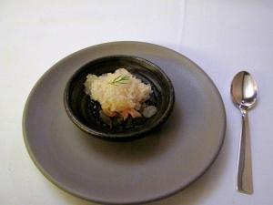 Coi - Pre-dessert - Pommelo Ice; coriander gel, cilantro