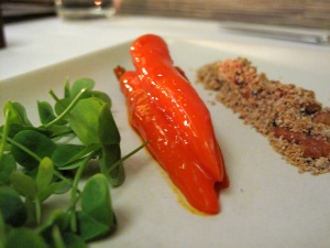 Coi - Sweet, Sour, Salty, Bitter; glazed, young carrots, burnt breadcrumbs, almonds, wood sorrel 2