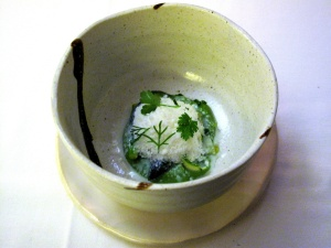 Coi - Winter into Spring; early season asparagus, buttermilk snow, herbs