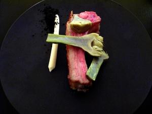le Chateaubriand - carré d'agneau de Lozère, artichaud, chevre, olives