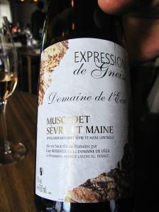 Noma - 2006 Domaine de l'Ecu Guy Bossard Muscadet Sèvre et Maine Sur Lie, Expression de Gneiss