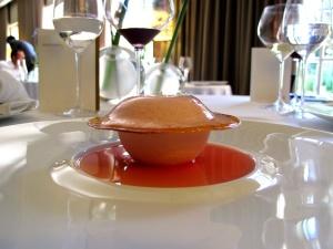 Pic - la Rhubarbe et la cacahuète; crémeux et coulant à la cacahuète torréfiée, marmalade et sorbet rhubarbe 2