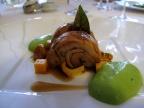 Pic - le Chevreau de la Drome; morceaux choisis confits longuement aux épices douces; mousseline d'oseille, fondant de kumquat au poivre Tifda
