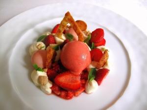 Søllerød Kro - Jordbær, fløde og mandler