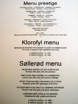 Søllerød Kro - Menu Prestige og Søllerød Menu