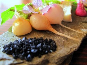 Ubuntu - REDHEAD RADISHES andante dairy's minuet layered with nori, black salt 2