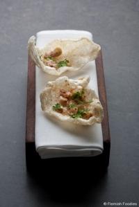 In de Wulf - Amuse Bouche - Porc Soufflé - Kobe Desramaults
