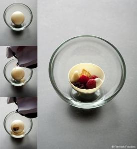 In de Wulf - Chocolat blanc, framboise, menthe chartreuse - Filip Claeys